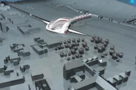 Návrh podoby nádraží architekta Petra Parolka