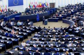 Jean-Claude Junkcer v Evropském parlamentu při projevu o stavu Unie