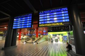 Nová odbavovací hala pražského hlavního nádraží