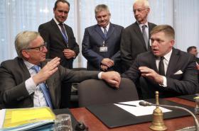 Jean-Claude Juncker a Rober Fico