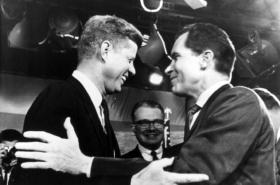 JFK a Richard Nixon v předvolebním klání v roce 1960