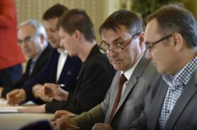 Podpis koaliční smlouvy v Brně