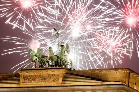 Oslavy příchodu nového roku v Berlíně
