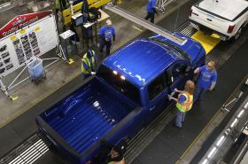 Výroba automobilky Ford v Michiganu