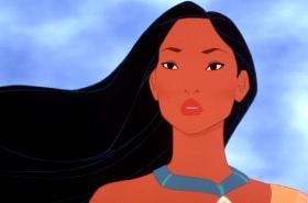 Indiánská princezna Pocahontas v animovaném filmu Walta Disneye