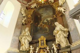 Obraz Klanění Tří králů od Petra Brandla v kostele ve Smiřicích