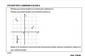 Zadání příkladu v maturitním testu z matematiky