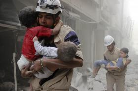 Prácee Bílých helem v Sýrii