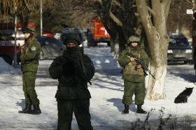 Vojenské hlídky samozvané Doněcké republiky