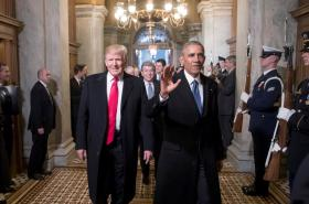 Donald Trump a Barack Obama