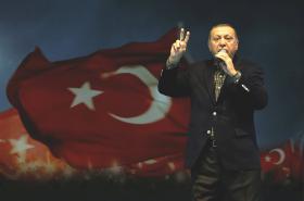 Turecký prezident na vystoupení v Istanbulu