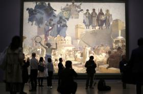 Slovanská epopej vystavená v Japonsku