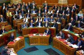 Zasedání maďarského parlamentu