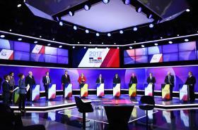 Poslední televizní debata před 1. kolem francouzských prezidentských voleb
