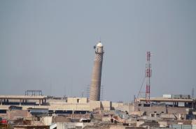 Slavná mosulská mešita an-Núrí. Archivní snímek z března 2014