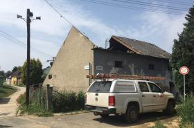 Následky bouřky v Morkovicích