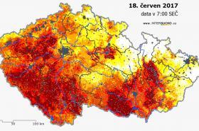 Sucho v Česku k 18. červnu