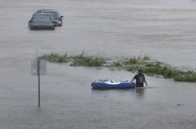 Zaplavené ulice Houstonu
