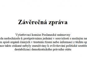 Závěrečná zpráva sněmovní komise