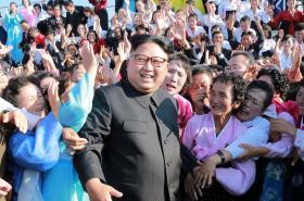Kim Čong Un na oficiální nedatované fotografii