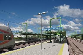 Vizualizace stanice Zahradní Město