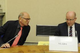 Bohuslav Sobotka (ČSSD) a Ivan Pilný (ANO)