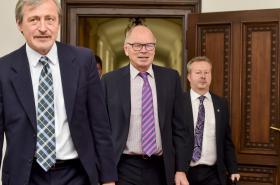 Ministři Martin Stropnický, Ivan Pilný a Richard Brabec (ANO)