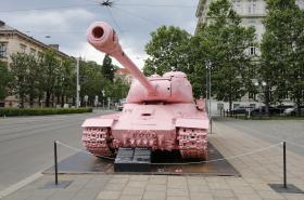 Růžový tank