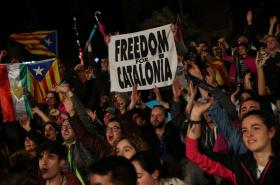 Příznivci katalánské nezávislosti