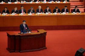 Čínský prezident během zahájení sjezdu strany