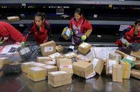 Práce v čínské zásilkové společnosti Best