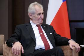 Miloš Zeman během návštěvy Ruska