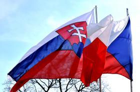 Slovenská a česká vlajka