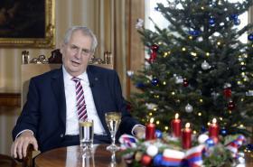 Prezident Miloš Zeman ve vánočním projevu