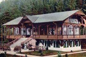 Tančírna v Račím údolí na historické pohlednici