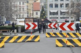 Zátarasy na Václavském náměstí