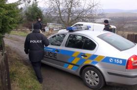 Policisté na místě činu