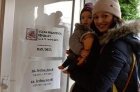 Volební místnost v Bruselu