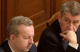 Premiér Andrej Babiš a ministr Richard Brabec
