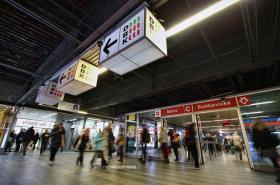 Jižní výstup ze stanice Budějovická se uzavřel
