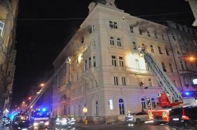 Zásah hasičů v hotelu Eurostars David