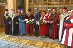 Ministr v demisi Robert Plaga s rektory a rektorkami
