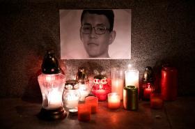 V Trenčíně uctili památku zavražděného novináře Jána Kuciaka