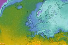 Zima nad Evropou, teplo nad Islandem