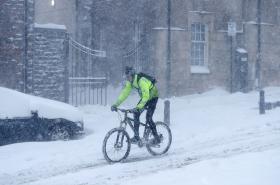 Mrazivé počasí v Británii a Evropě