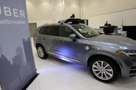 Samořízené Volvo XC90 společnosti Uber.