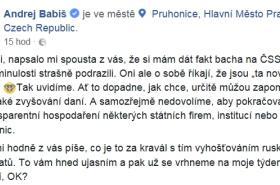 Příspěvek Andreje Babiše