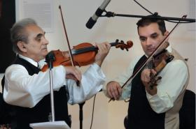 Eugen Horváth se synem Milanem v roce 2009