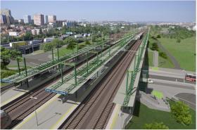 Vizualizace k optimalizaci železničního úseku Praha hl.n. - Praha-Hostivař
