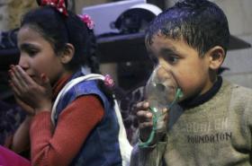 Oběti chemického útoku v Dúmá